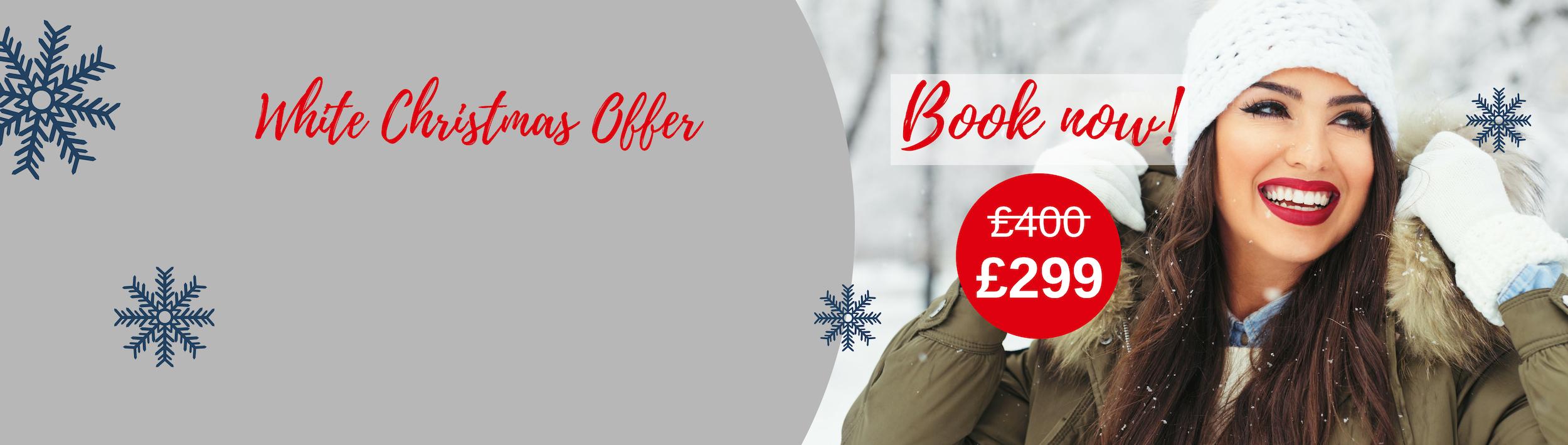 White Christmas Offer website slide banner